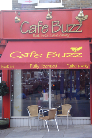awning at Cafe Buzz